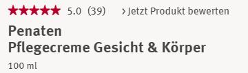 Đánh giá Kem dưỡng ẩm Penaten PflegecremeGesicht & Korper