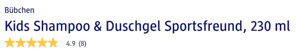 đánh giá sữa tắm gội Bubchen & Duschgel, 230 ml