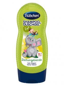 sữa tắm gội Bubchen kids shampoo duschgel dschungelbande, 230ml