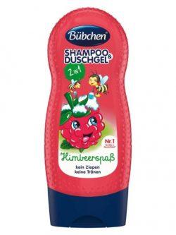 sữa tắm gội Bubchen kids shampoo duschgel himbeerspab, 230 ml