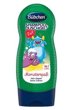 sữa tắm gộ Bubchen kids shampoo duschgel monsterspab, 230 ml