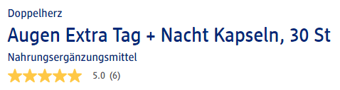 Đánh giá thuốc bổ mắt Doppelherz Augen Extra Tag Nacht