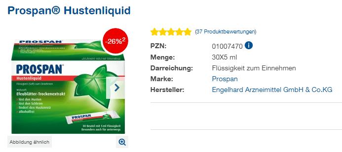Đánh giá thuốc ho Prospan Hustenliquid