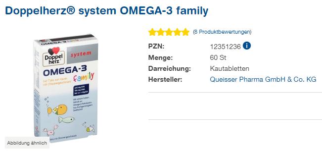 Đánh giá viên uống Doppelherz System Omega 3 Family