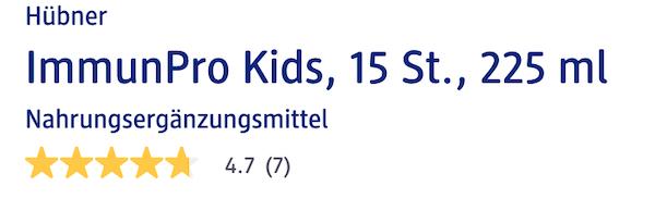 Immun Pro Kids được người dùng đánh giá cao