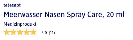 Tetesept Meerwasser Nassen Spray Care được đánh giá khá cao