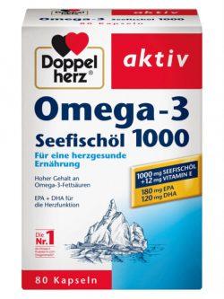 Dầu cá Doppelherz Omega 3 Seefischol 1000, 80 viên