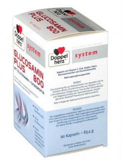 Thuốc bổ xương khớp doppelherz system glucosamin plus 800, 60 viên