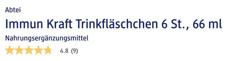 Đánh giá chất lượng Abtei Immun Kraft