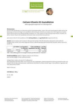 Sanct Bernhard Calcium Vitamin D3