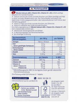 Viên uống Calcium 600 Vitamin D3 + K, 30 viên