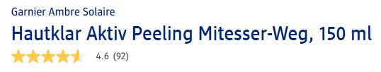 Đánh giá tẩy tế bào chết Garnier Hautklar Aktiv Mitesser Weg Peeling