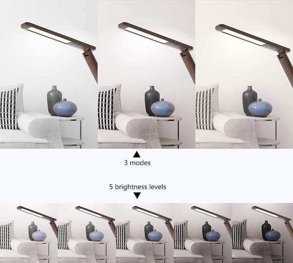 Đèn bàn Led WILIT U13 9W dễ dàng điều chỉnh độ sáng