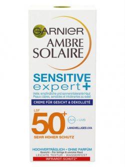 Kem Chống Nắng Mặt Garnier Ambre Solaire Sensitive Expert Spf 50+, 50 ml