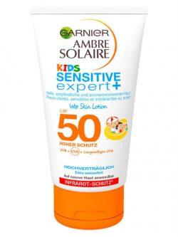 Kem chống nắng trẻ em Garnier Ambre Solaire Kids Sensitive Expert Spf 50, 150 ml
