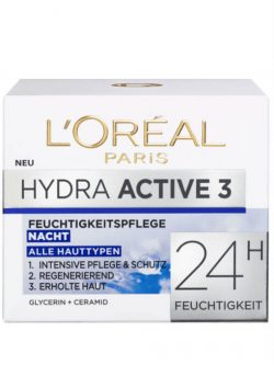 Kem Dưỡng Da Loreal Hydra Active 3 Nacht 50ml