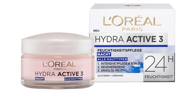 Kem Dưỡng Da Loreal Hydra Active 3 Nacht Cho Da Khô Và Nhạy Cảm Ban Đêm, 50 ml