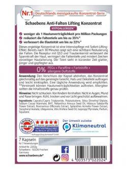Viên nang Schaebens Anti Falten Lifting Konzentrat, 7 viên