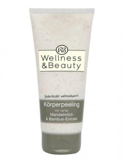 Tẩy tế bào chết Wellness & Beauty Korperpeeling Mandelmilch & Bambus-Extrakt, 200ml